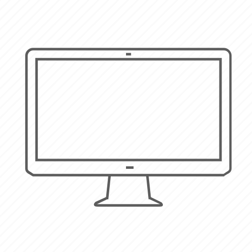 apple, display, monitor, outlined, screen, thunderbolt, tv icon