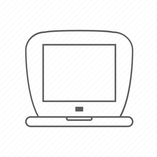 apple, g3, ibook, notebook, outlined icon