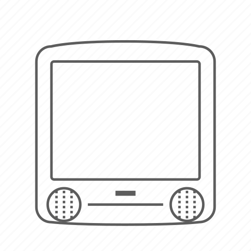 apple, computer, g3, imac, outlined icon