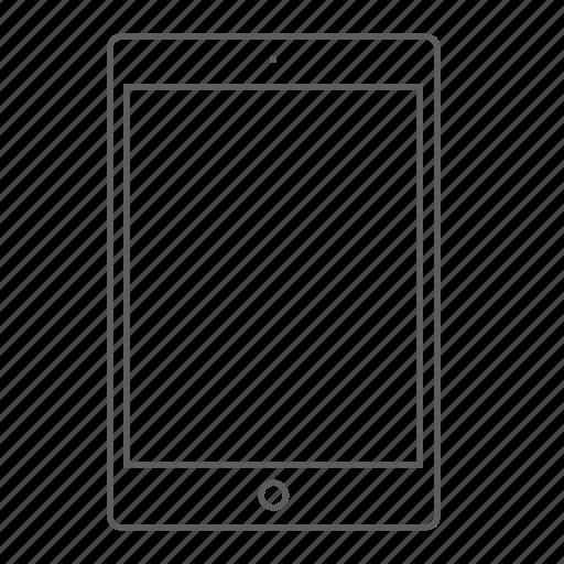 apple, board, ipad, mini, outlined icon