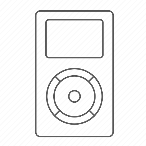 apple, gen, ipod, music, outlined, player icon