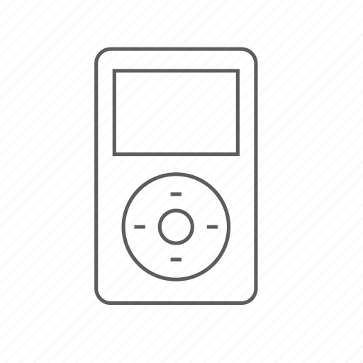 apple, classic, gen, ipod, music, outlined, player icon