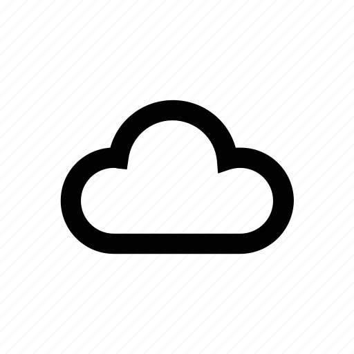 climate, cloud vector icon for all weather, rain, snow and temperature forecast designs. icon