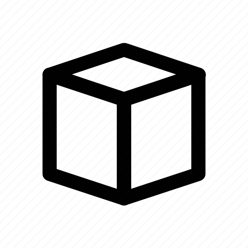 box, cube, element, hollow cube, shape, ui icon