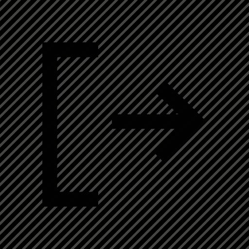 arrow, diagonal, left arrow, right, right sign, sign icon
