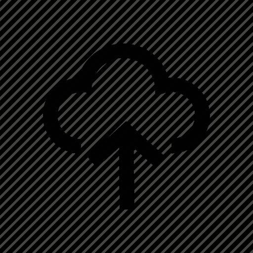 arrow, icloud, upload, uploading, upward icon