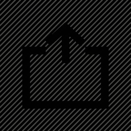 arrow, export, upload, uploading, upward arrow icon