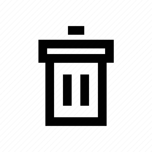 bin, delete, dustbin, remove, trashcan icon