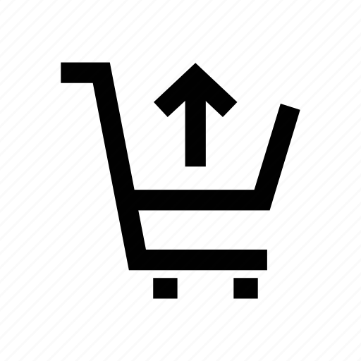 cart, cart up, shopping cart, shopping trolley, trolley, up arrow icon