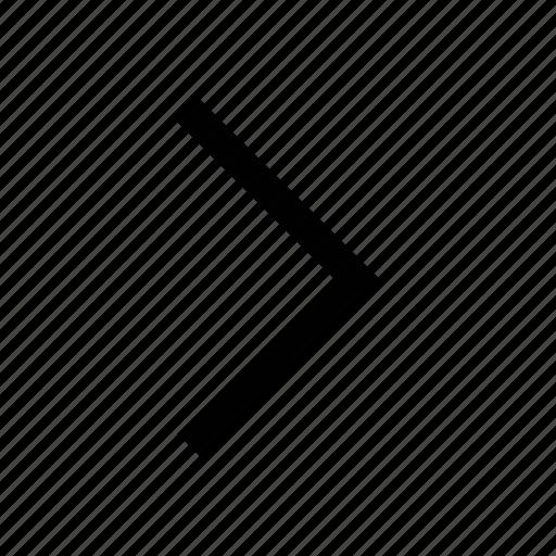 arrow, chevron, direction, navigation arrow, right icon
