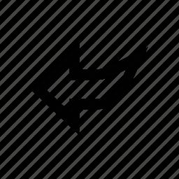 arrow, diagonal, left, left arrow, left sign icon