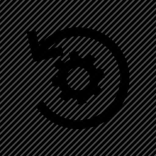 cog, cogwheel, gear, refresh, reprocessing icon