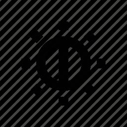 block, brightness, energy, forbidden, glow, light, solar icon