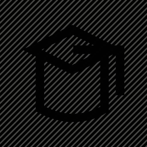 achievement, certificate cap, graduation cap, graduation hat, mortarboard icon