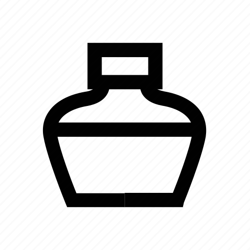 ink, ink bottle, ink jar, ink pot, inkpot icon