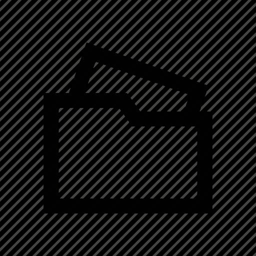 data storage, file, file folder, folder, open folder icon