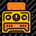 appliances, bread, kitchen, toaster icon