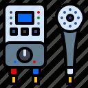 appliances, bathroom, boiler, flow, heater, water