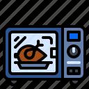appliances, chicken, kitchen, microwave, oven icon