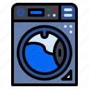 appliances, laundry, machine, washing icon