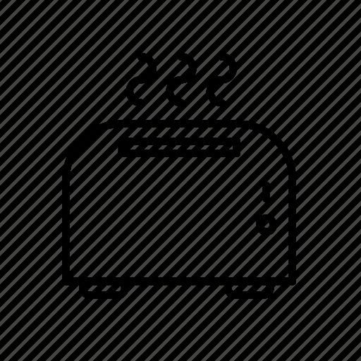 appliance, appliances, cooking, electronics, kitchen, toast, toaster icon