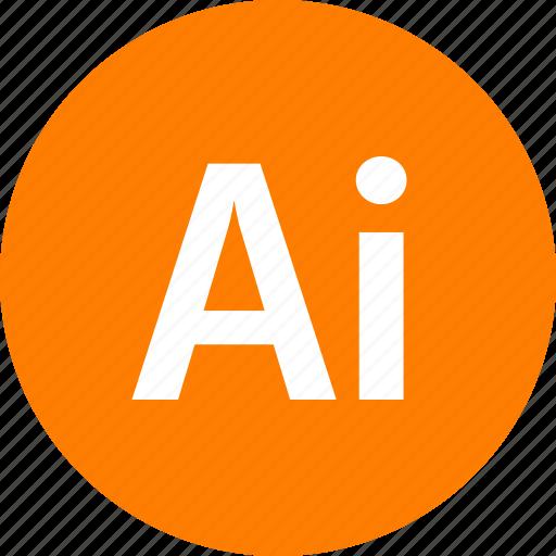 adobe, document, file, format, illustrator, type icon