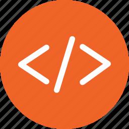 coding, file, format, html, hypertext, language, markup icon