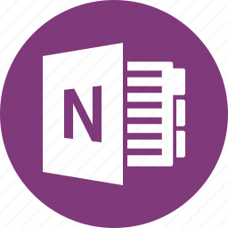 document, file, format, microsoft, onenote, type icon