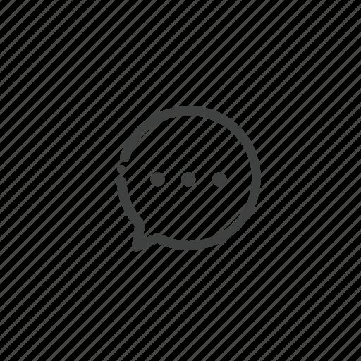 bubble, chat, circle, conversation, message, messages, speech icon