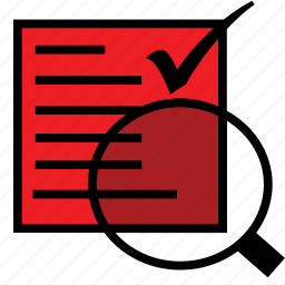 audit, check, file, history, report, reportauditred, verify icon