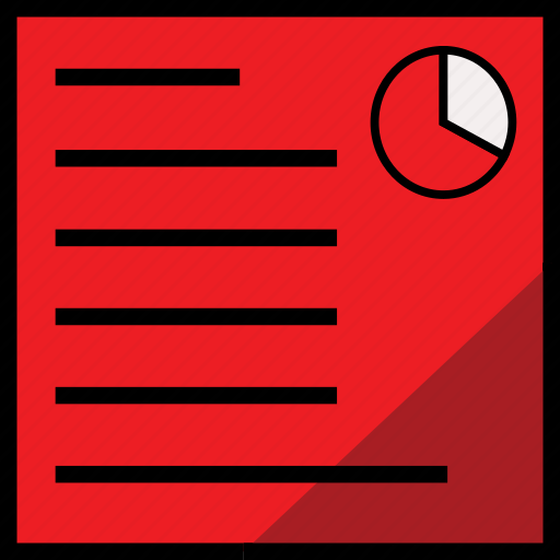 chart, document, report, reportchartred icon