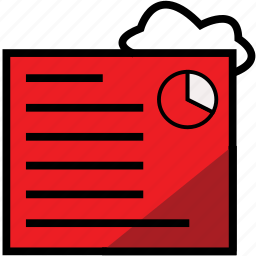 chart, cloud, public, report, reportredchartcloud icon