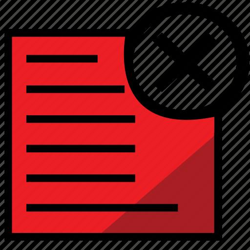 close, file, report, reportredclose icon