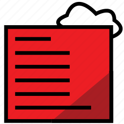 cloud, file, public, report, reportredcloud icon