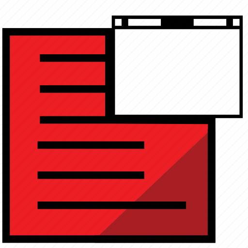 file, new, papper, print, report, reportrednewwindow, window icon