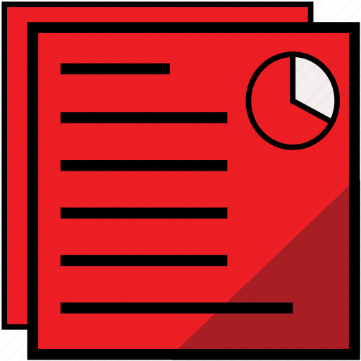 business, file, graph, multiple, paper, report, reportschartred icon