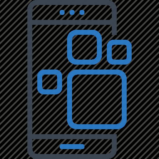 app, application, smartphone, ui, ux icon