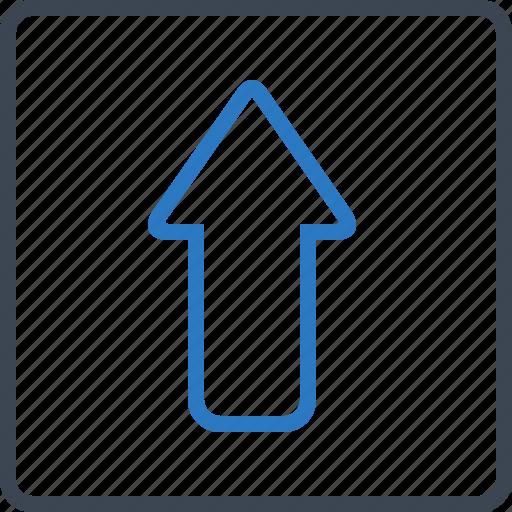 arrow, direction, grow, up icon
