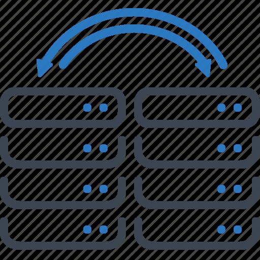 data, exchange, server, storage icon