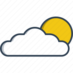 application, could, media, mobile, phone, smartphone, weather icon