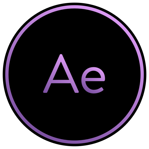 adobe, aftereffects, app, editing, film, movie, viedo icon