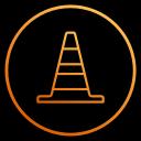 app, vlc, player, program, video, cone, film