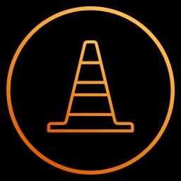app, cone, film, player, program, video, vlc icon