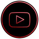 app, film, media, music, social, video, youtube icon