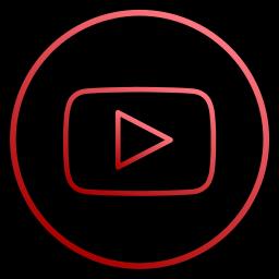 app, film, media, music, social, video, youtube icon