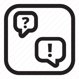 faq, feedback, help, message icon