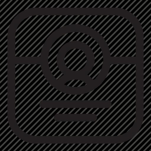 client, person, profile, user icon
