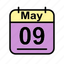 calendar, date, may, schedule icon, tu icon