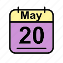 calendar, date, may, sa, schedule icon icon