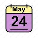 calendar, date, may, schedule icon, we icon